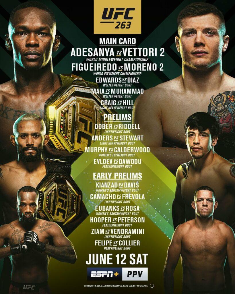 UFC 263 cartelera